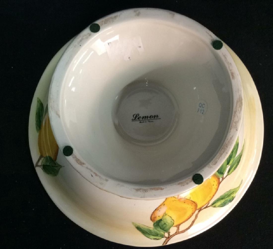 Porcelain/Ceramic Fruit Bowl On Stand - 4