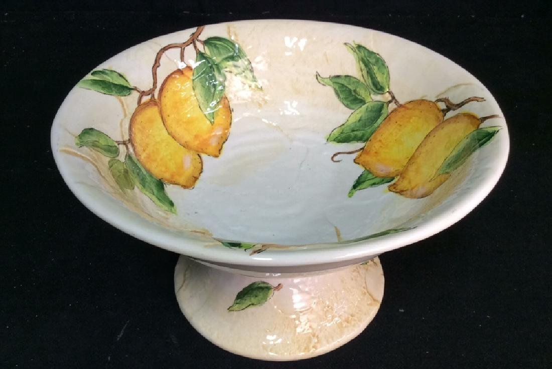 Porcelain/Ceramic Fruit Bowl On Stand - 8