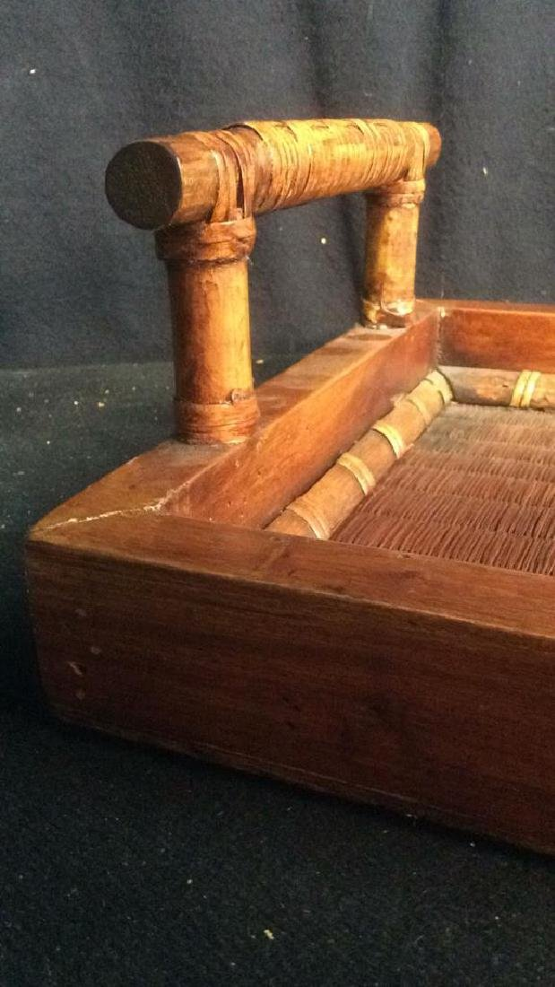 Handled Woven Wooden & Wicker - 10