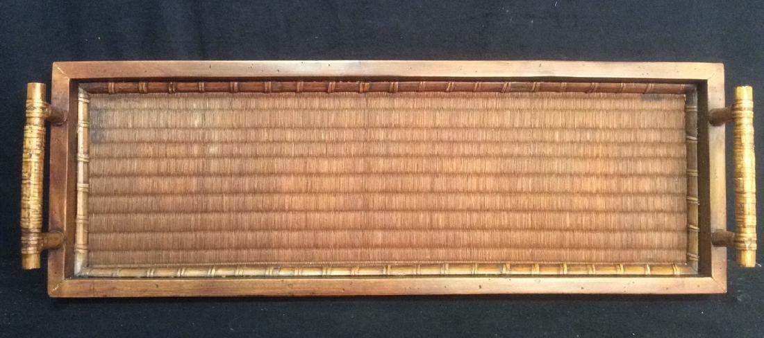 Handled Woven Wooden & Wicker