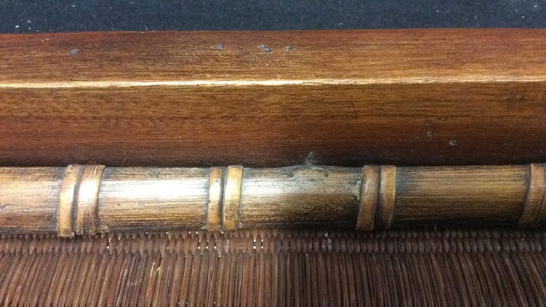 Handled Woven Wooden & Wicker - 6