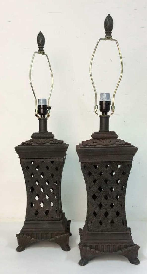 Lot 2 Pair of Ornate Table Lamps