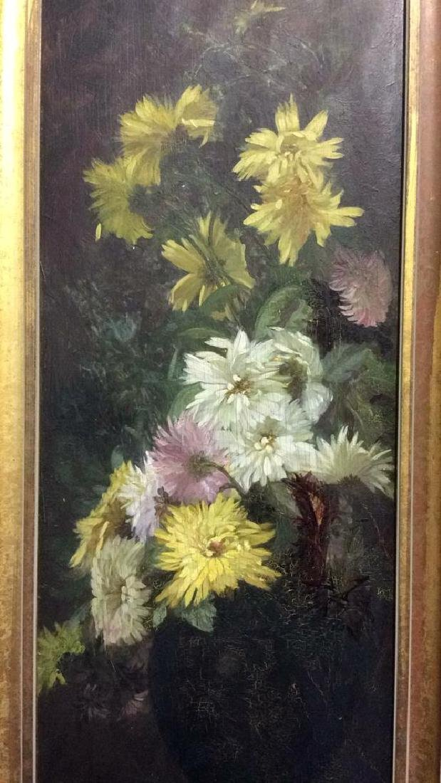 Original Vintage Oil Painting on Board Still Life - 3