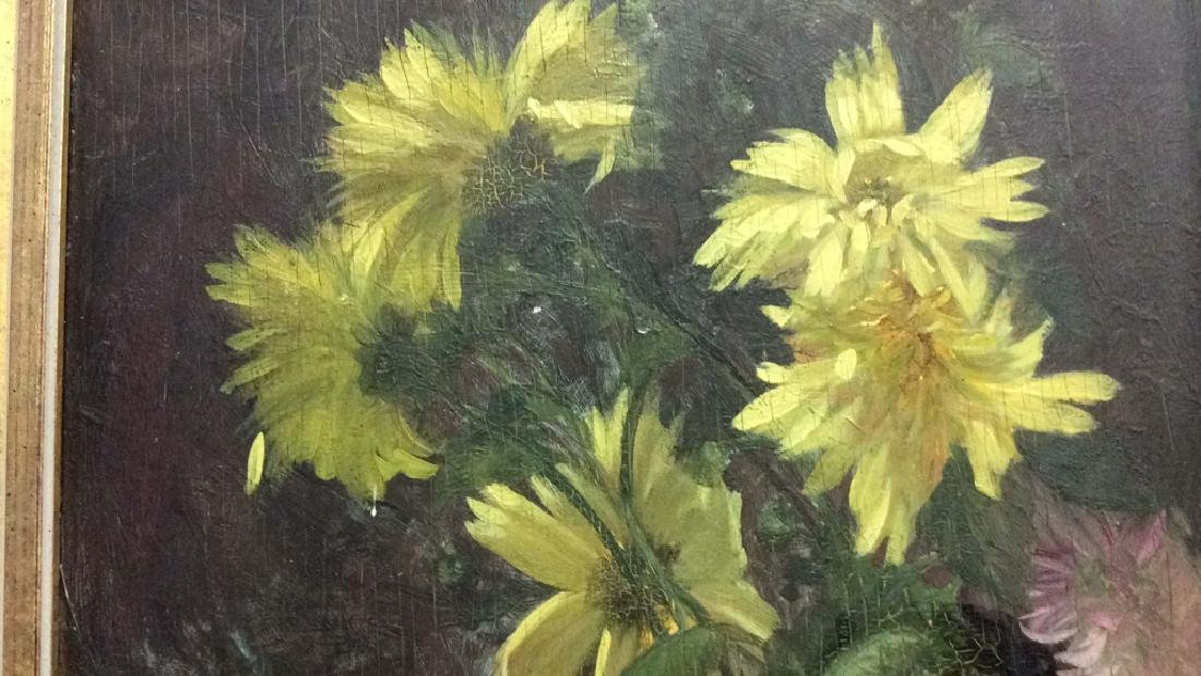 Original Vintage Oil Painting on Board Still Life - 6