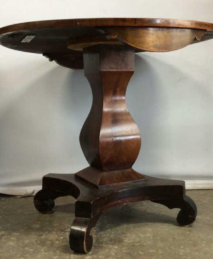 Round Wooden Pedestal Style Coffee Table - 2