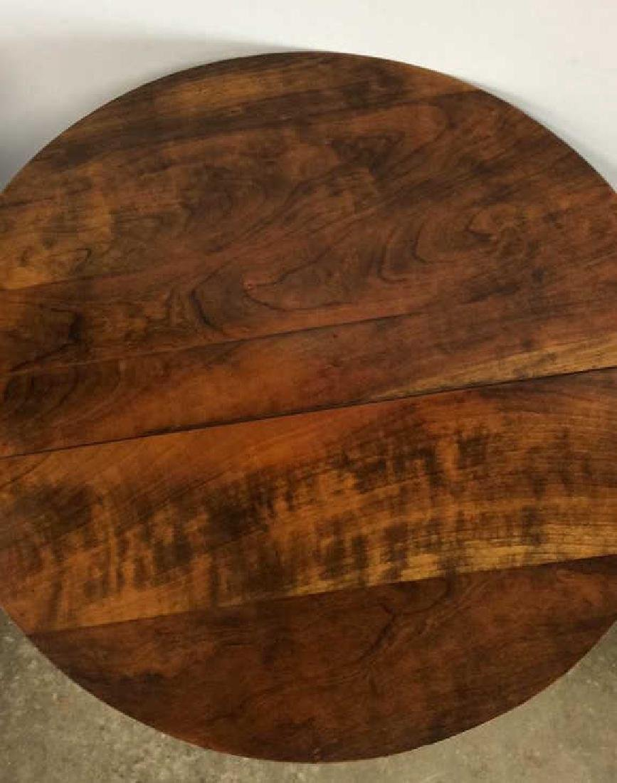 Round Wooden Pedestal Style Coffee Table - 8