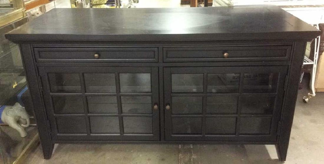 Black Toned Wood Console Table