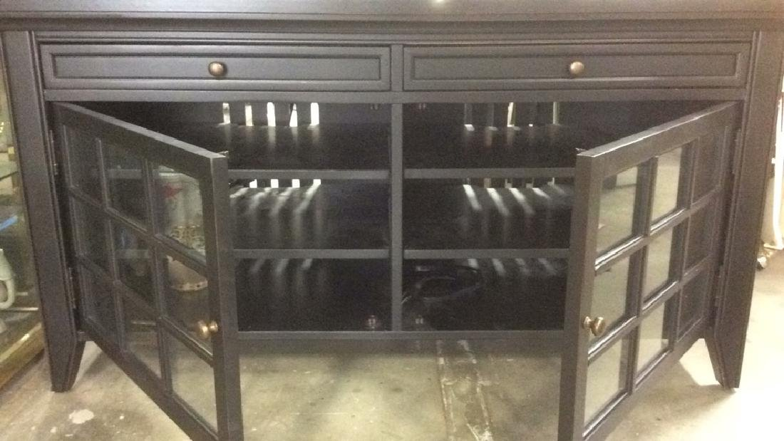 Black Toned Wood Console Table - 7