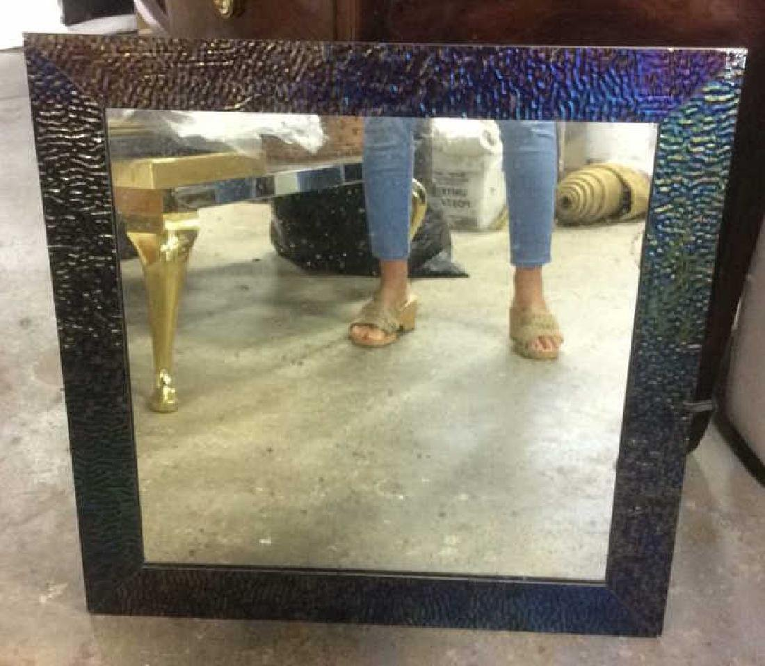 Contemporary Metal Framed Mirror - 2