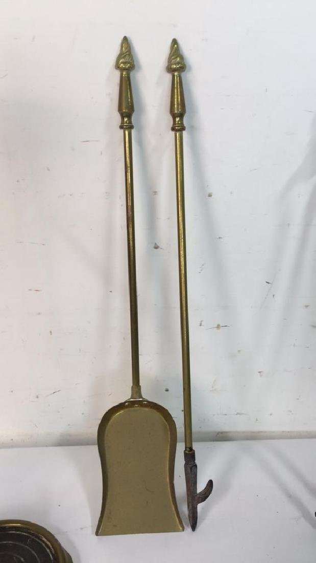 Brass And Metal Duck Head Fireplace Tools - 4