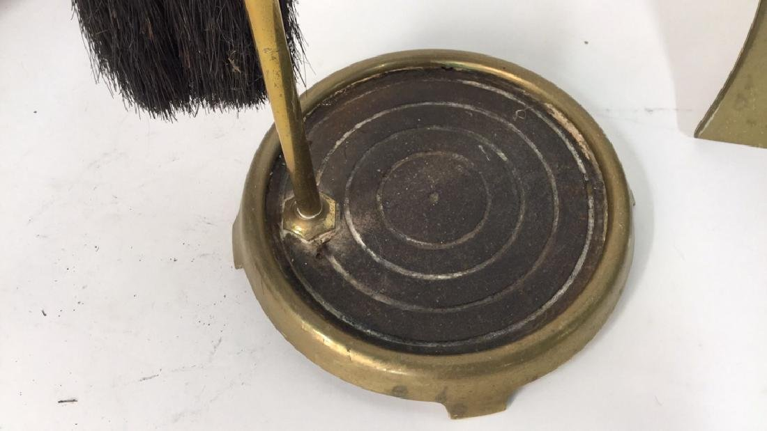 Brass And Metal Duck Head Fireplace Tools - 6