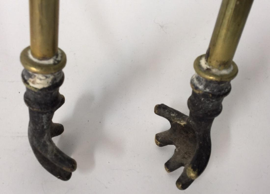 Brass And Metal Duck Head Fireplace Tools - 9