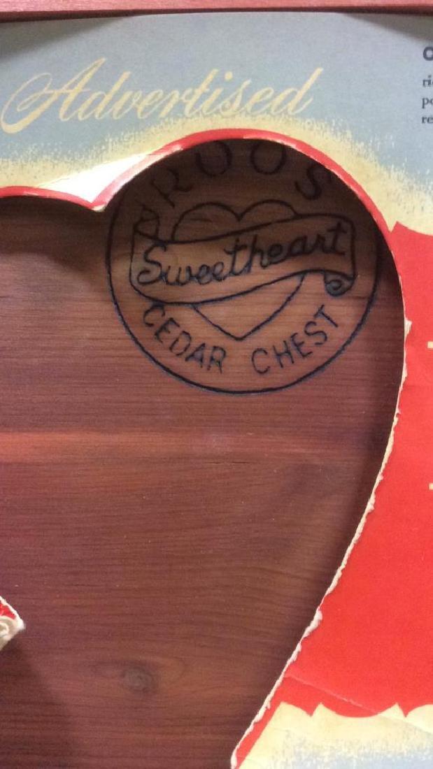 Vintage ROOS SWEETHEART CEDAR CHEST - 4