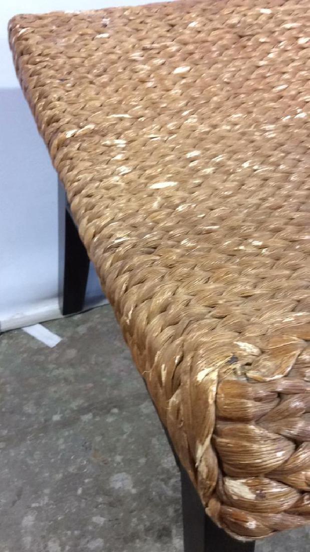 Wooden & Jute Weave Bench - 10