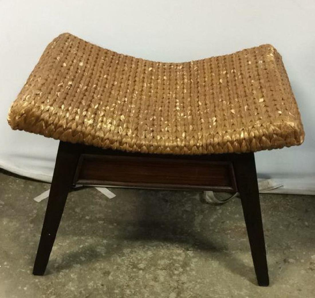 Wooden & Jute Weave Bench