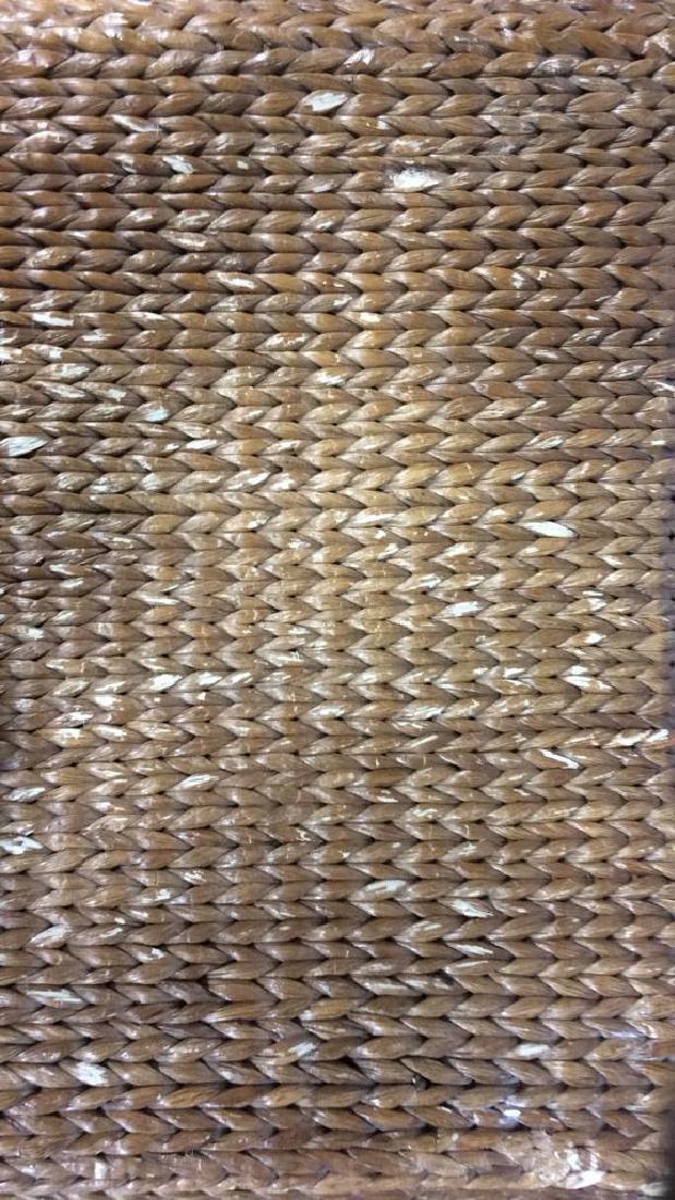 Wooden & Jute Weave Bench - 2