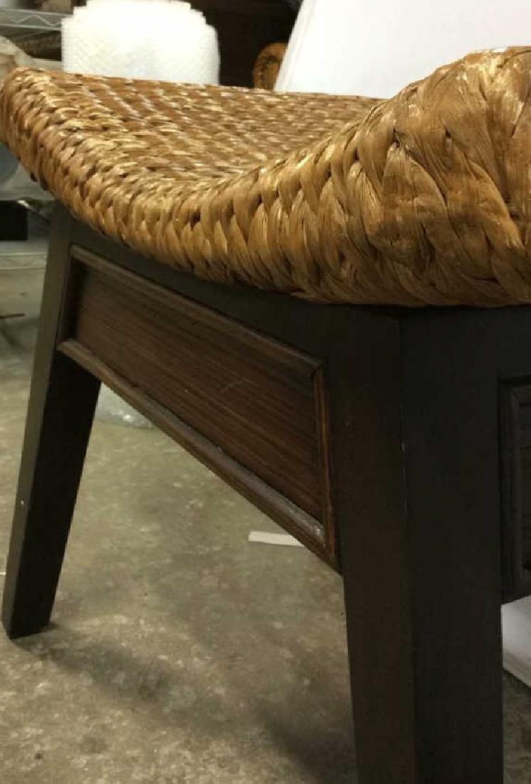 Wooden & Jute Weave Bench - 3