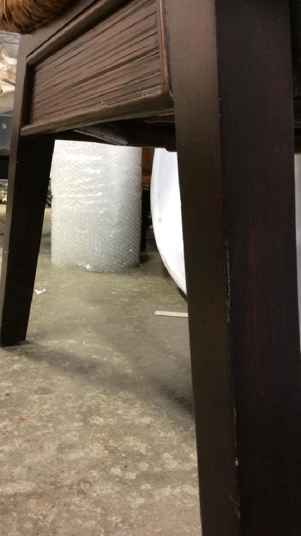 Wooden & Jute Weave Bench - 4