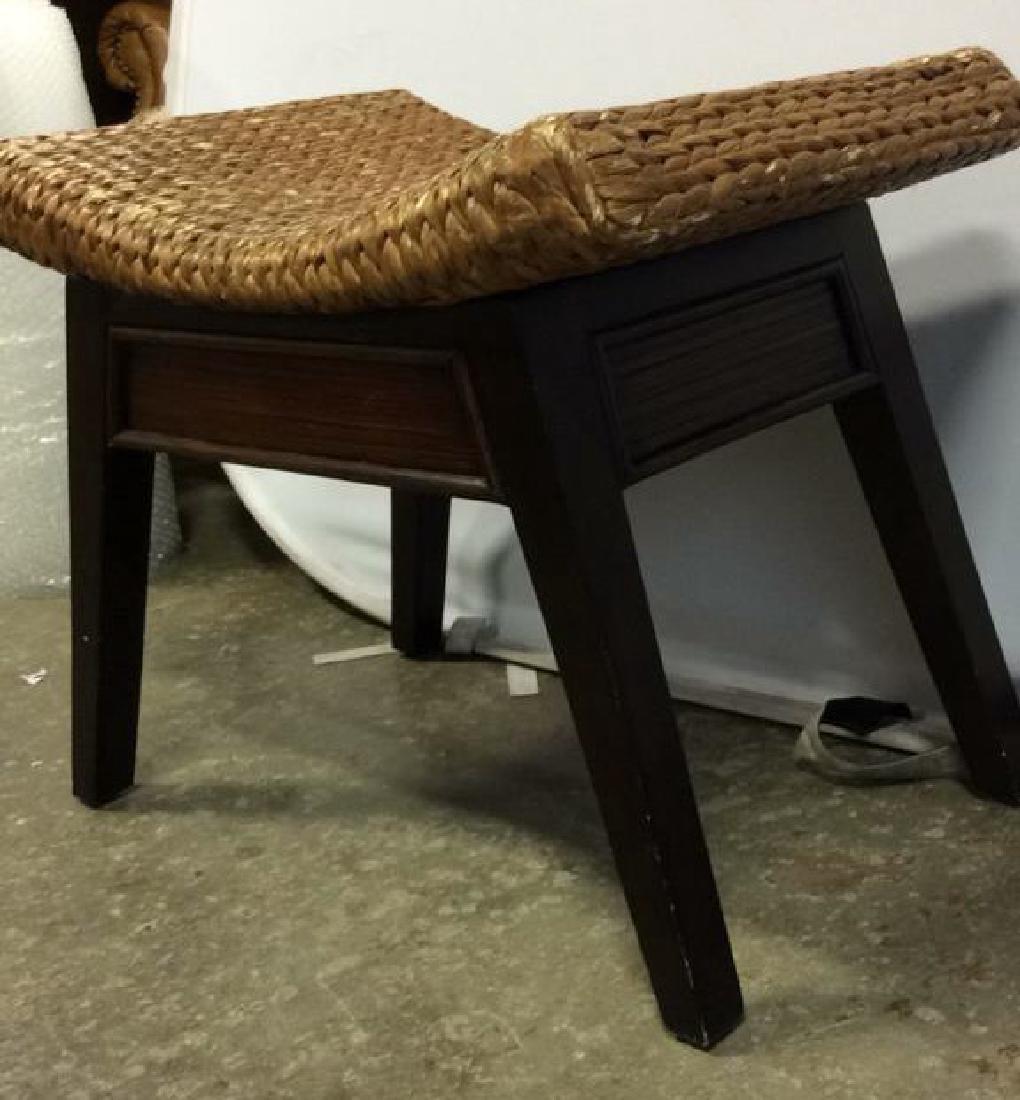 Wooden & Jute Weave Bench - 6