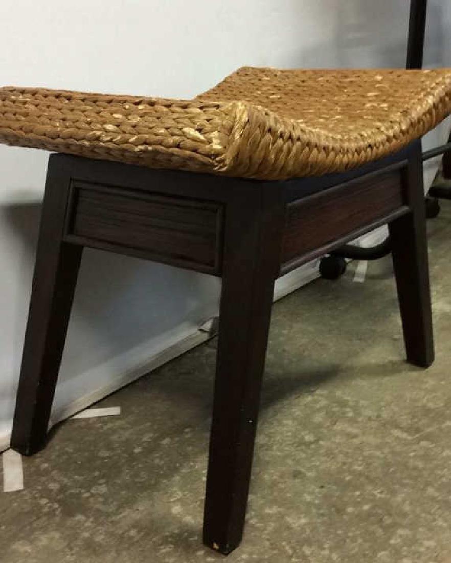 Wooden & Jute Weave Bench - 7