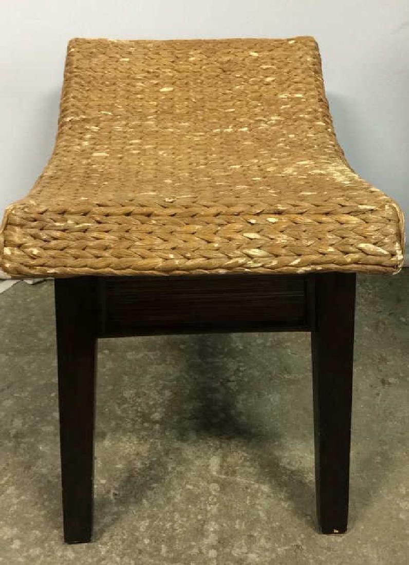Wooden & Jute Weave Bench - 8