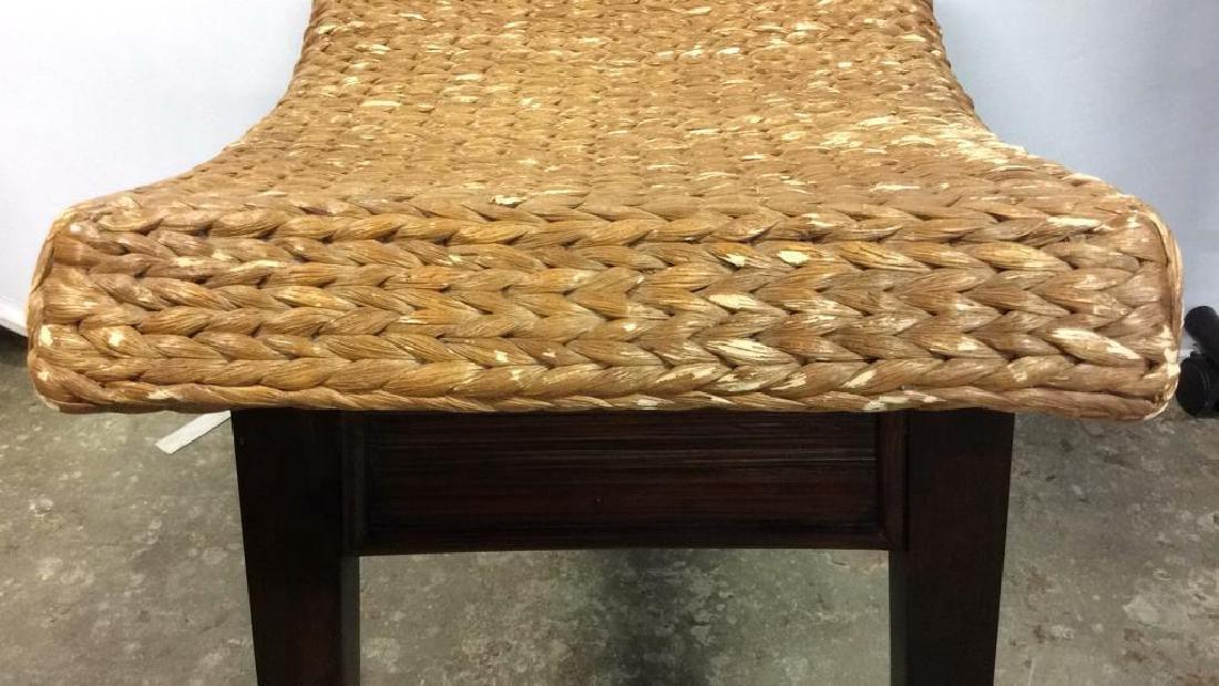 Wooden & Jute Weave Bench - 9