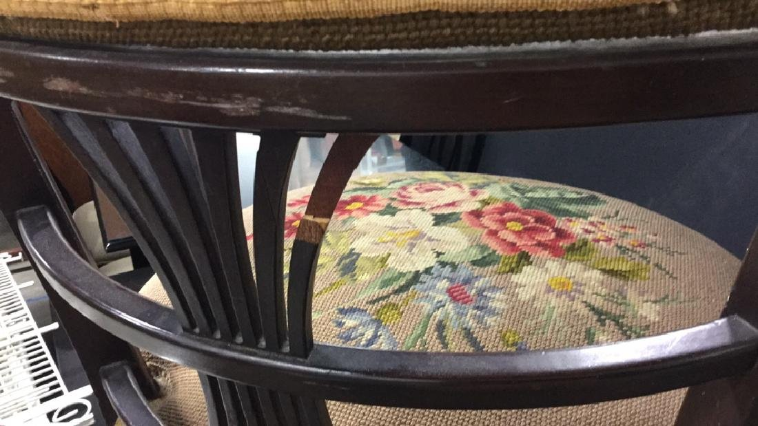 Antique Chair Needlepoint Upholstery - 10