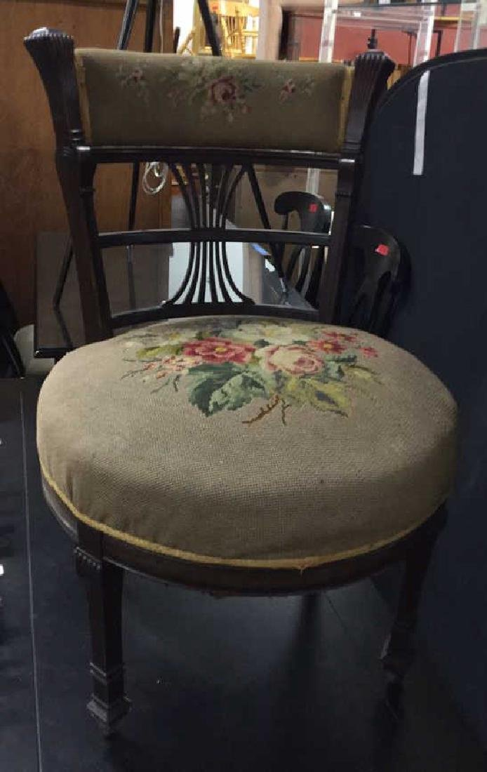 Antique Chair Needlepoint Upholstery