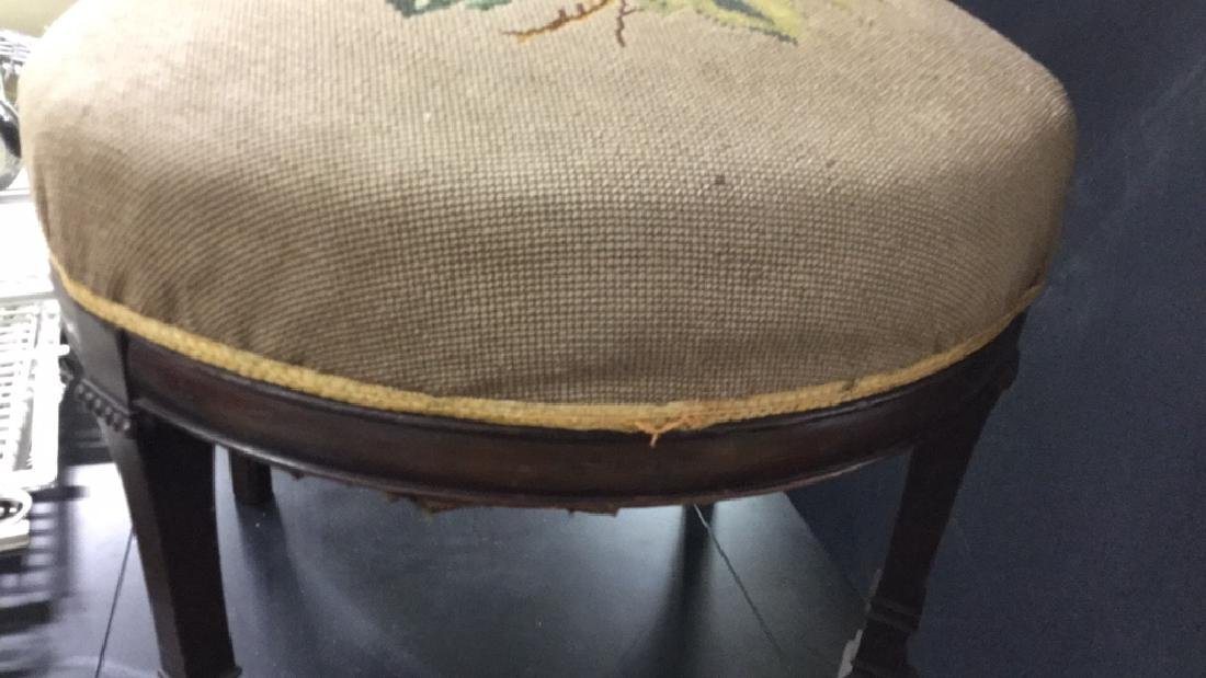 Antique Chair Needlepoint Upholstery - 3