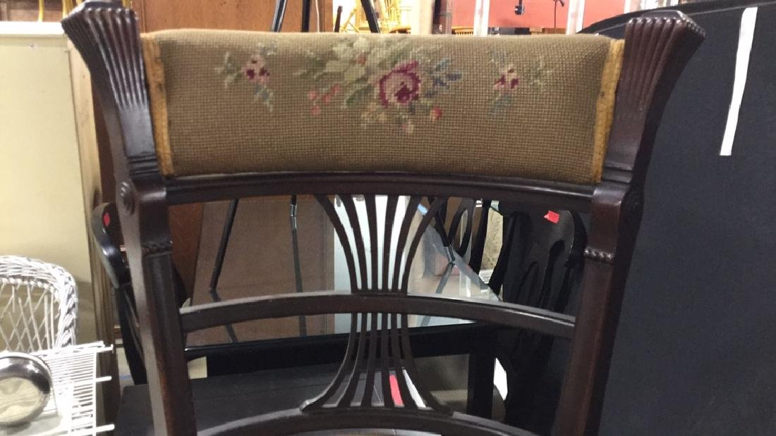Antique Chair Needlepoint Upholstery - 5