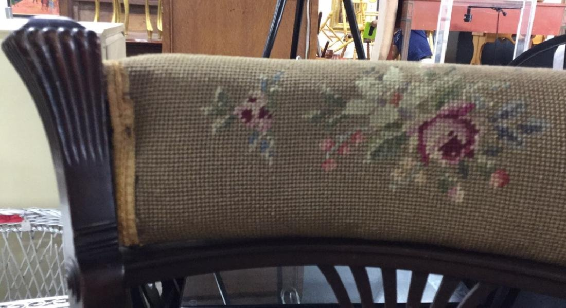 Antique Chair Needlepoint Upholstery - 6