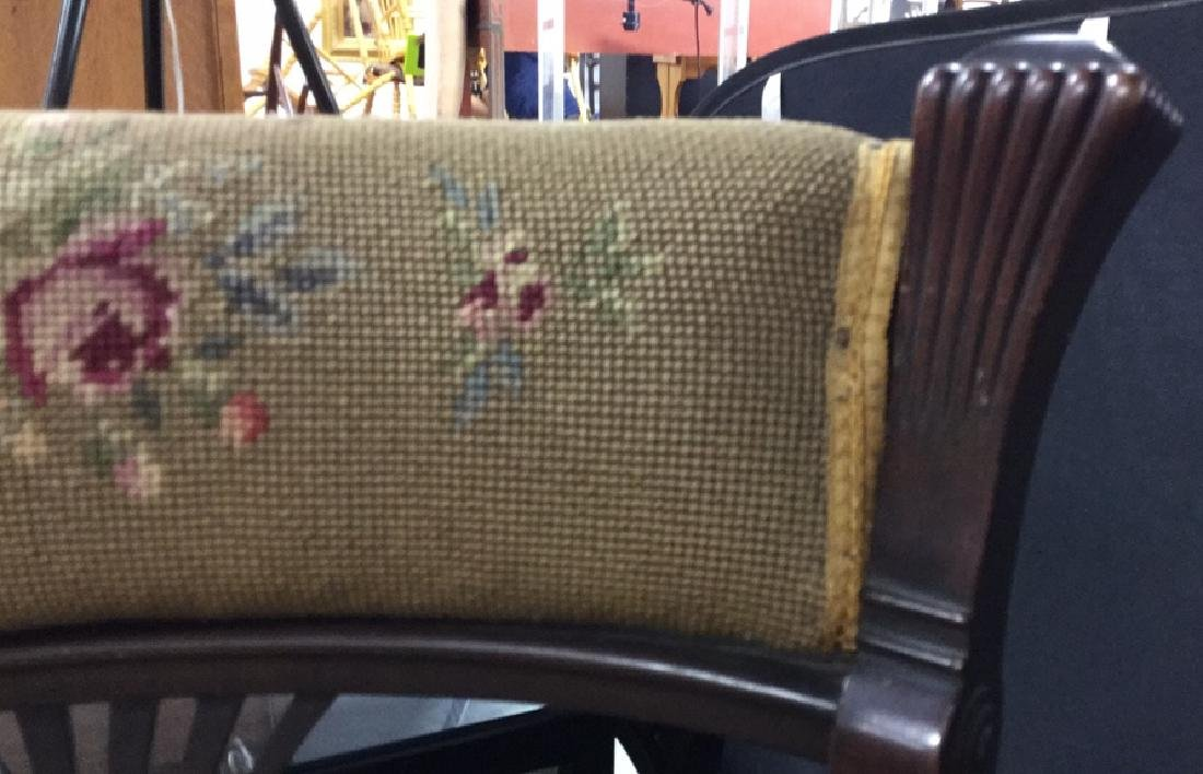 Antique Chair Needlepoint Upholstery - 7