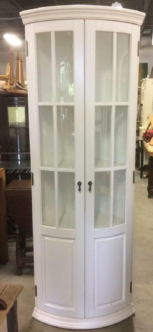 BALLARD DESIGNS White Toned Corner Display Cabinet