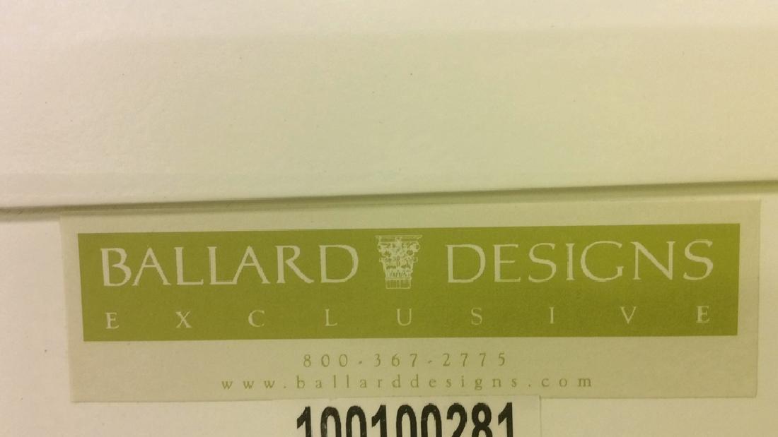 BALLARD DESIGNS White Toned Corner Display Cabinet - 4