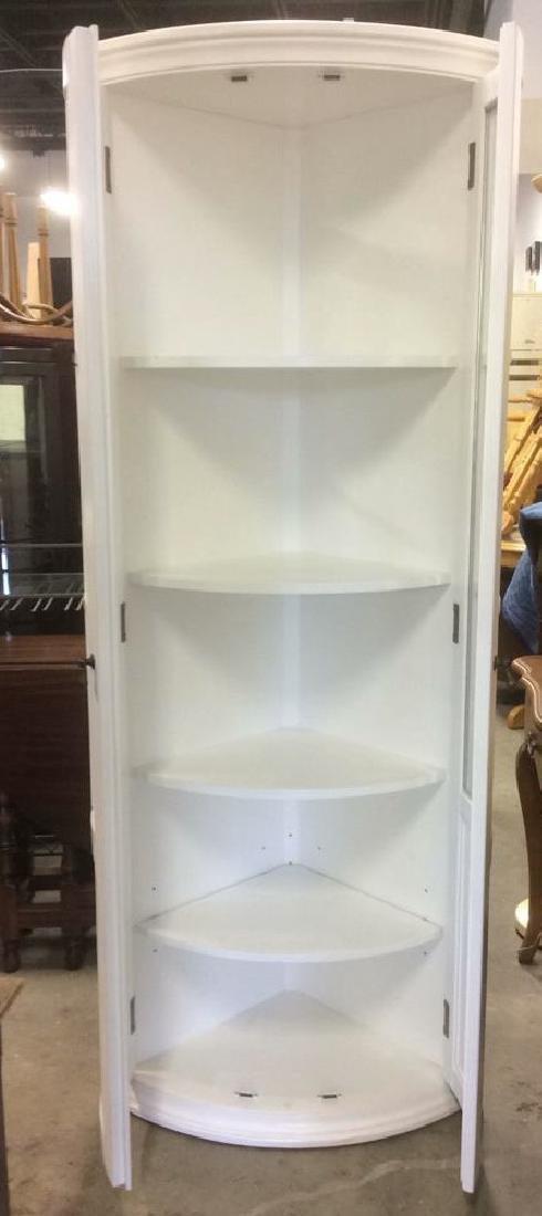 BALLARD DESIGNS White Toned Corner Display Cabinet - 5