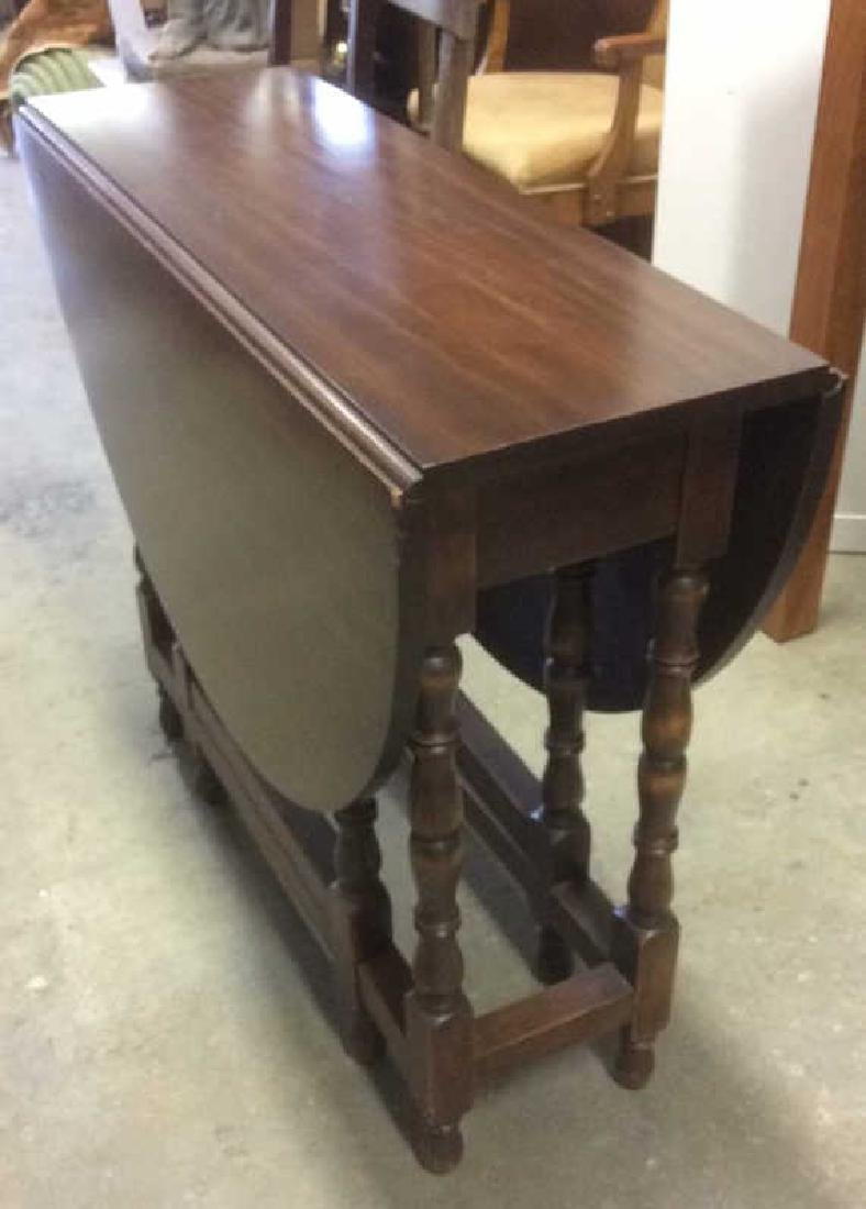 Vintage Mahhogany Gate Leg Drop Leaf Table - 3