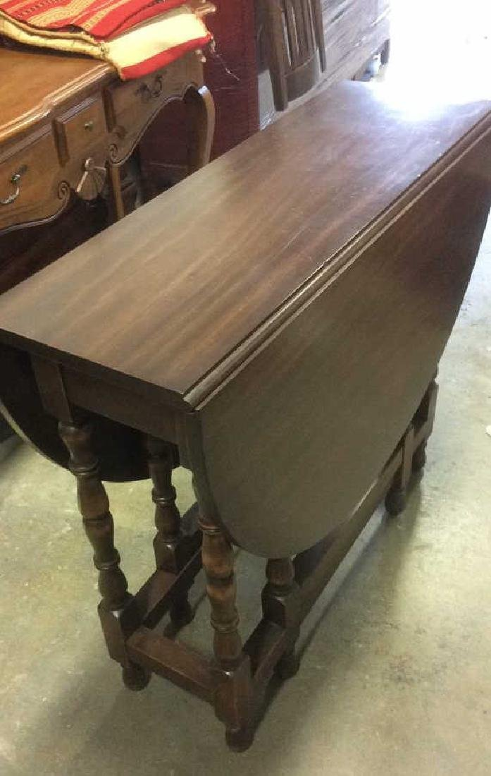 Vintage Mahhogany Gate Leg Drop Leaf Table - 4
