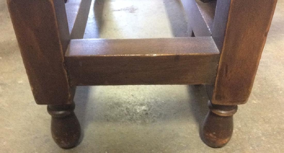 Vintage Mahhogany Gate Leg Drop Leaf Table - 6