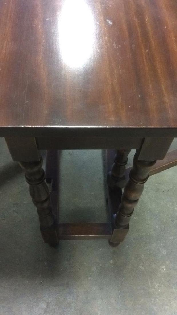 Vintage Mahhogany Gate Leg Drop Leaf Table - 8