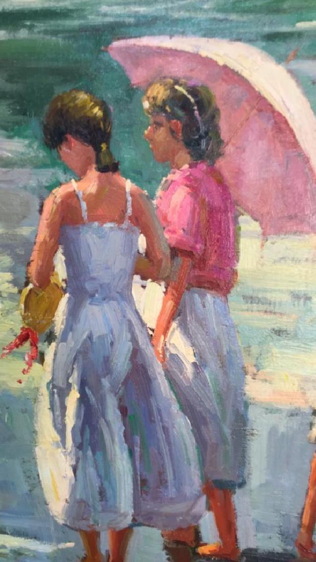 Impressionist Oil Sea Shore Painting On Canvas - 2