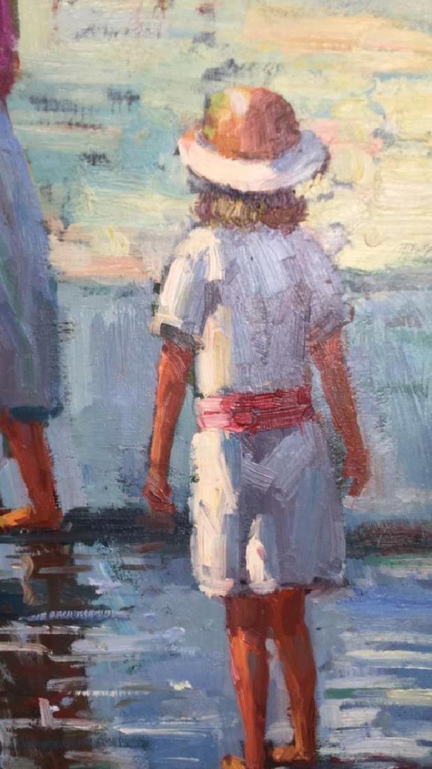 Impressionist Oil Sea Shore Painting On Canvas - 3