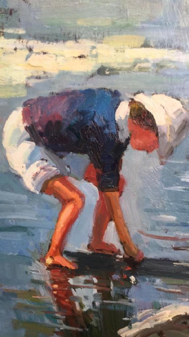 Impressionist Oil Sea Shore Painting On Canvas - 4