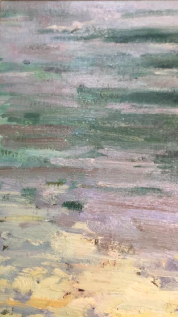 Impressionist Oil Sea Shore Painting On Canvas - 6