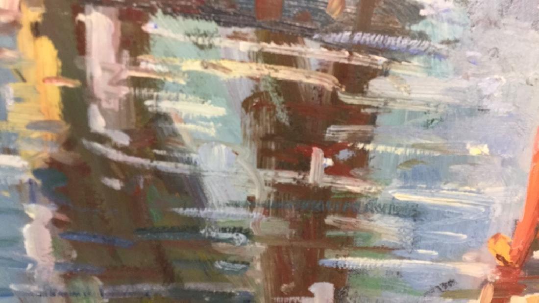 Impressionist Oil Sea Shore Painting On Canvas - 7