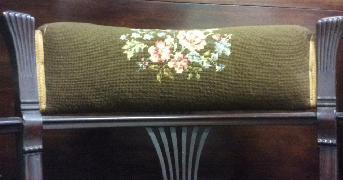 Antique Armchair W Needlepoint Upholstery - 5