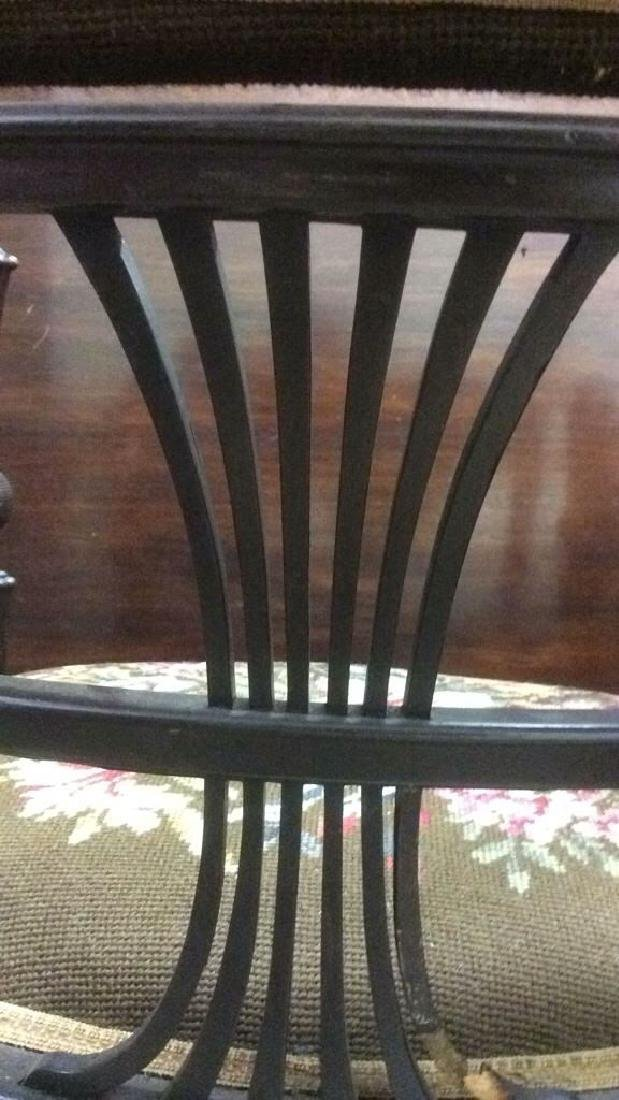 Antique Armchair W Needlepoint Upholstery - 8