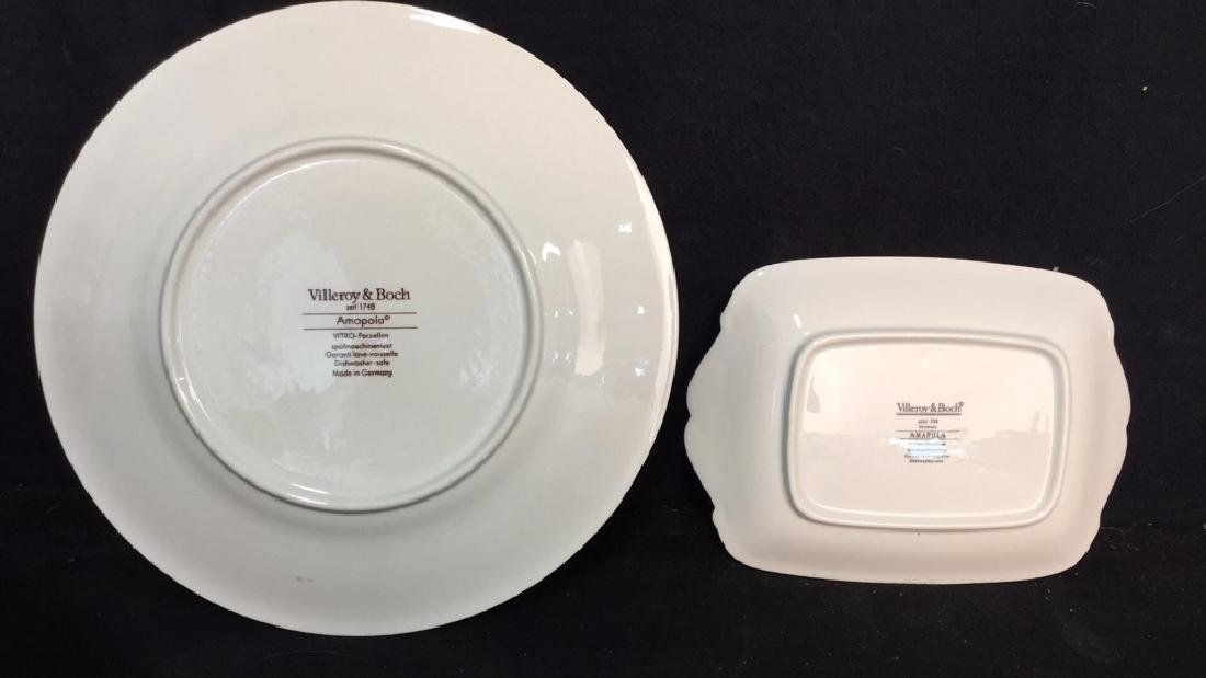 Villeroy & Boch Set 18 Dinner Plates and Platter - 4