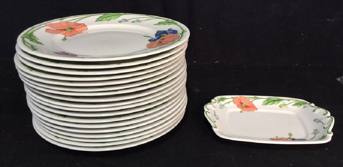 Villeroy & Boch Set 18 Dinner Plates and Platter - 5