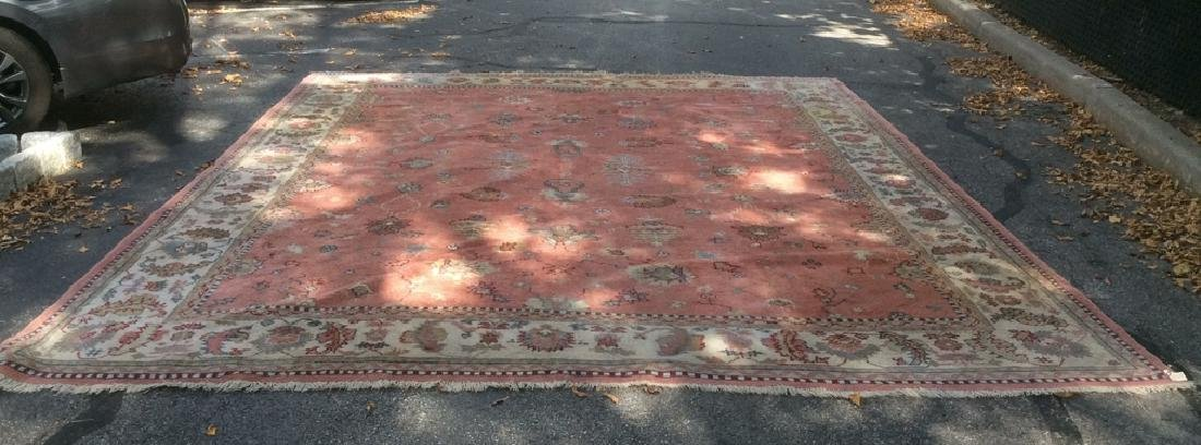 Hand Made Turkish Ouchak Carpet Circa 1940 - 9