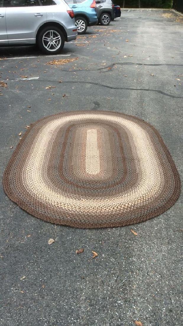 Braided Vintage Oval Rug - 10